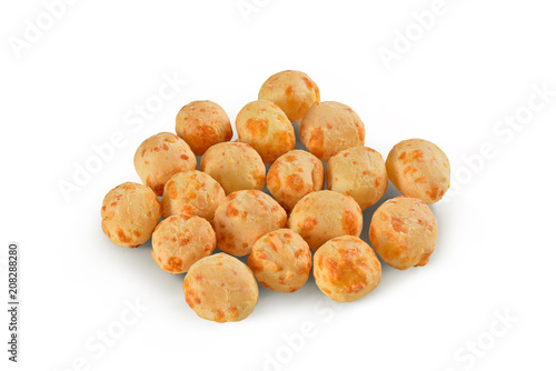 Brazilian cheese breads isolated on white background