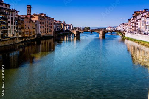 Aluminium Florence View of bridge in Florence