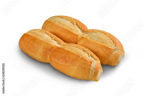 Brazilian white bread isolated on white background
