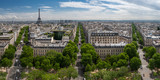 Panorama view of Paris from the Arc de Triomphe, Paris, France