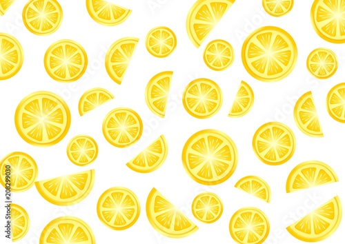 Lemon and orange pattern - 208299030