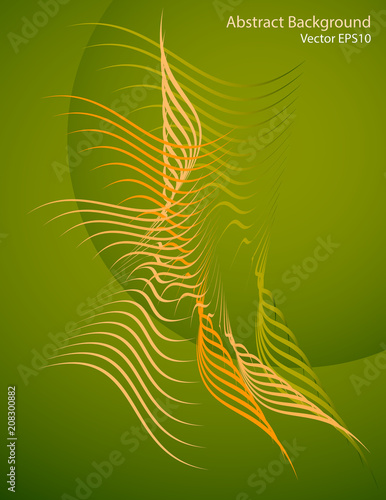 Fotobehang Abstractie Art Abstract shapes on a green background