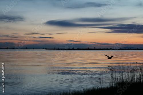 Fotobehang Zee zonsondergang Wonderfull Sunset