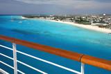 Grand Turks Beaches from Ships Balcony Rail - 208307414
