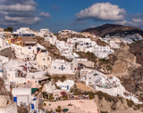 Impressive view of Santorini island. Picturesque view of the famous Santorin village, Greece, Europe. Traveling concept background. Cycladic island. Marvelous view of Santorin