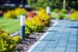 Leinwanddruck Bild - Cobblestone Brick Path