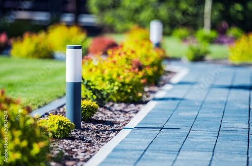 Leinwanddruck Bild Cobblestone Brick Path