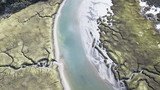 River Patterns and Bridge, Tasmanian Landscape Australia Views from the air
