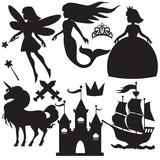 Fairy tale vector cartoon illustration