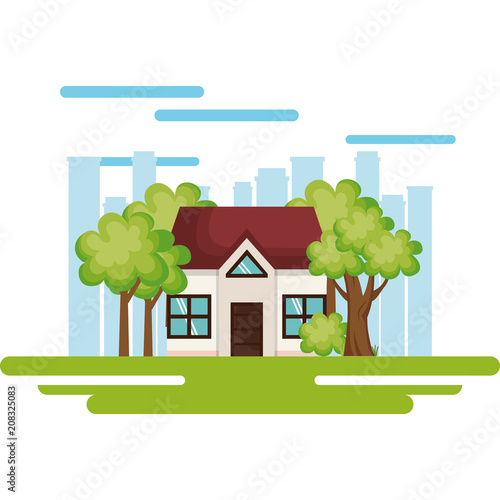 house save the world icon vector illustration design
