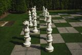 Garden chess table.