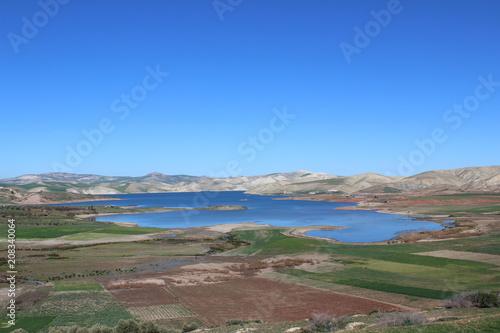 Fotobehang Cappuccino landscape in morocco