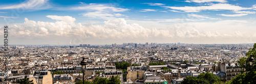 Panorama Blick auf Paris vom Montmartre - 208342876