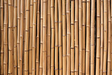 Bamboo wood fence natural background texture