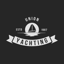 Yachting Club Logo Set Yachting Yahct Club Logo Set  Boad Sail And Yacht Yacht Sport Yachting Club Set Sticker