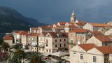View of the Korcula town, Korcula island, Dalmatia, Croatia - 208353237