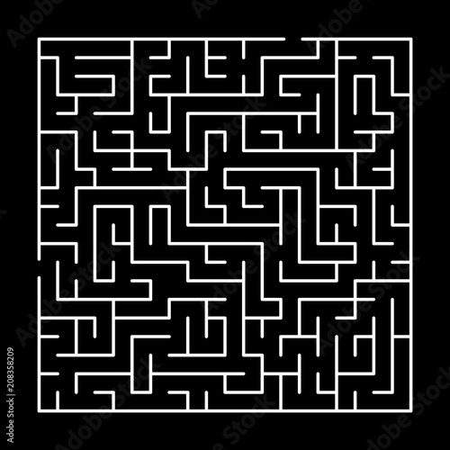 Black And White Simple Maze Puzzle Vector Buy Photos Ap Images