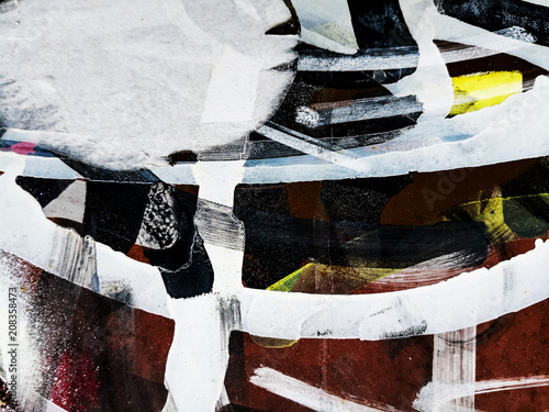 Detail graffiti on wall texture and background