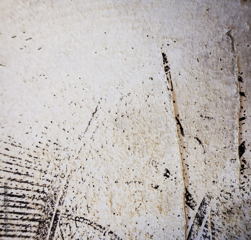 old and worn paper texture background - 208358476