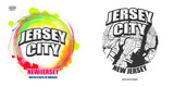 Jersey City, New Jersey, two logo artworks - 208364245