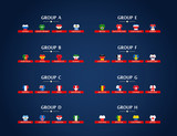 World soccer championship groups. Football tournament scheme. Football infographic - 208364644