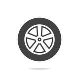 Car wheel icon vector isolated - 208369869