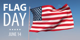 Flag Day in the United States. USA. June 14. 3d render. Celebration - 208383836
