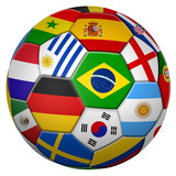 football with national flags