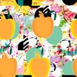 sfondo astratto con frutta - 208393821