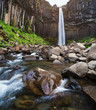 Svartifoss waterfall in south east Iceland - 208394240