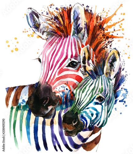 zebra-illustration-with-splash-watercolor-texture-rainbow-background-for-fashion-print-poster-for-textiles-fashion-design