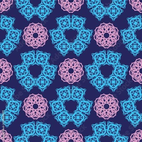 Lace, fractals, mandalas, seamless pattern