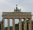 Great Brandenburg Gate in Berlin in Germany with four horses on
