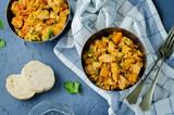 Pumpkin chicken cilantro rice - 208432218