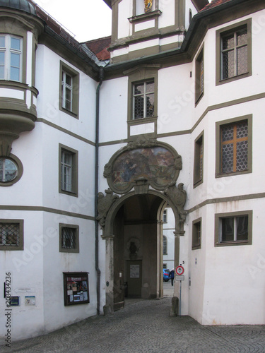 Foto Murales The beauty of the old and domestic architecture of the small German town of Fussen