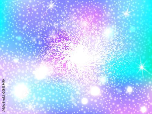 Kolorowe abstrakcyjne tło. Ślicznej galaxy fantazi cukierku jaskrawy tło. Jednorożec w pastelowym kolorze nieba z tęczą. Ilustracja wektorowa nieba