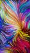 Leinwanddruck Bild - Illusions of Colorful Paint