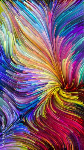 Leinwanddruck Bild Illusions of Colorful Paint