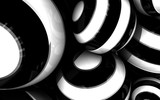 black and white abstract 3d circle premium background