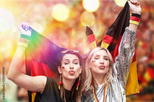 Leinwanddruck Bild Deutsche Fans