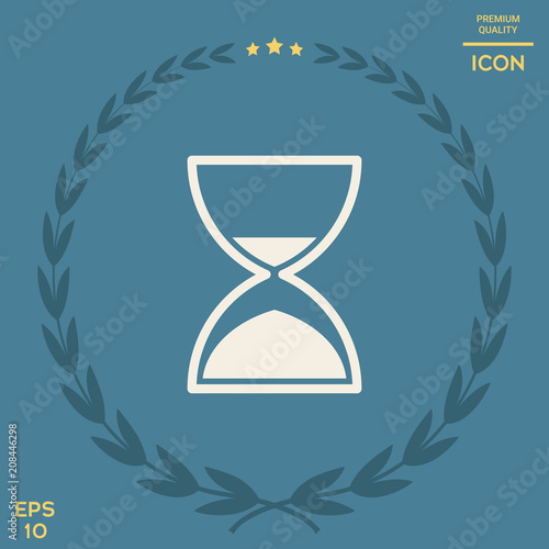 Sticker Hourglass time icon