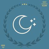 Moon stars line icon