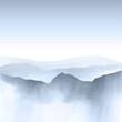 Watercolour mountain landscape
