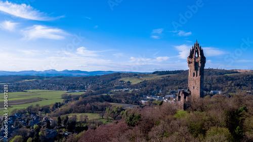 Foto Murales Aerial view of Scotland Stirling UK