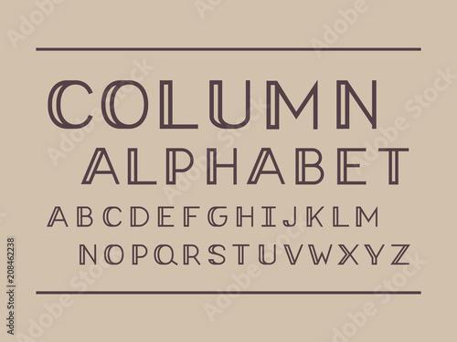 column-regular-font-vector-alphabet