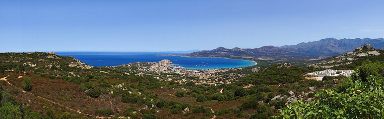 Calvi bay panorama in corsica coast © hassan bensliman
