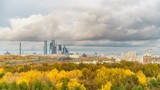 Timelapse of Moscow city at autumn day - 208465245