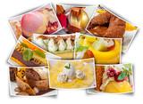 collage de desserts  - 208470465