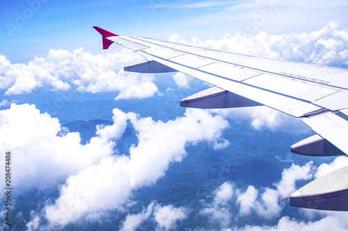 Aerial view from airplane window - 208474486
