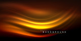 Neon glowing wave, magic energy and light motion background - 208482851
